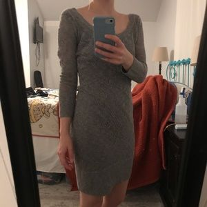American Eagle Grey Knit Sweater Dress